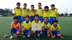 U11第三位:水戸サッカースポーツ少年団イエロー
