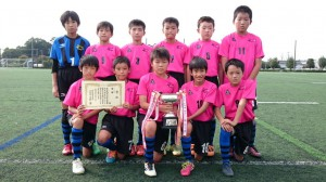 U12優勝:新荘常磐サッカースポーツ少年団